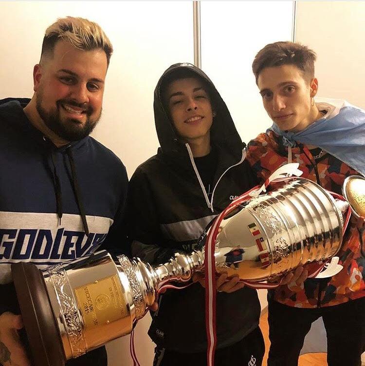 El equipo Argentina, subcampeón del mundial de freestyle God Level. Vía Instagram: @trueno
